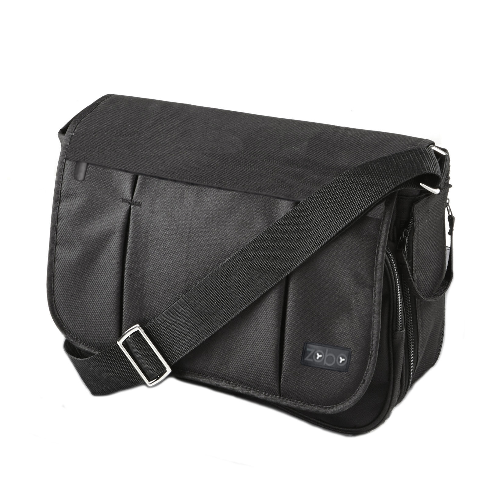 e8ac4956fa360 4baby Zobo Messenger Changing Bag - Black | Buy at Online4baby