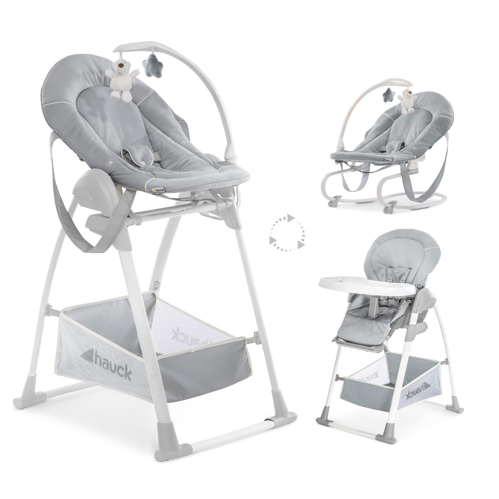 hauck sit n relax 3 in 1 highchair stretch grey buy at. Black Bedroom Furniture Sets. Home Design Ideas