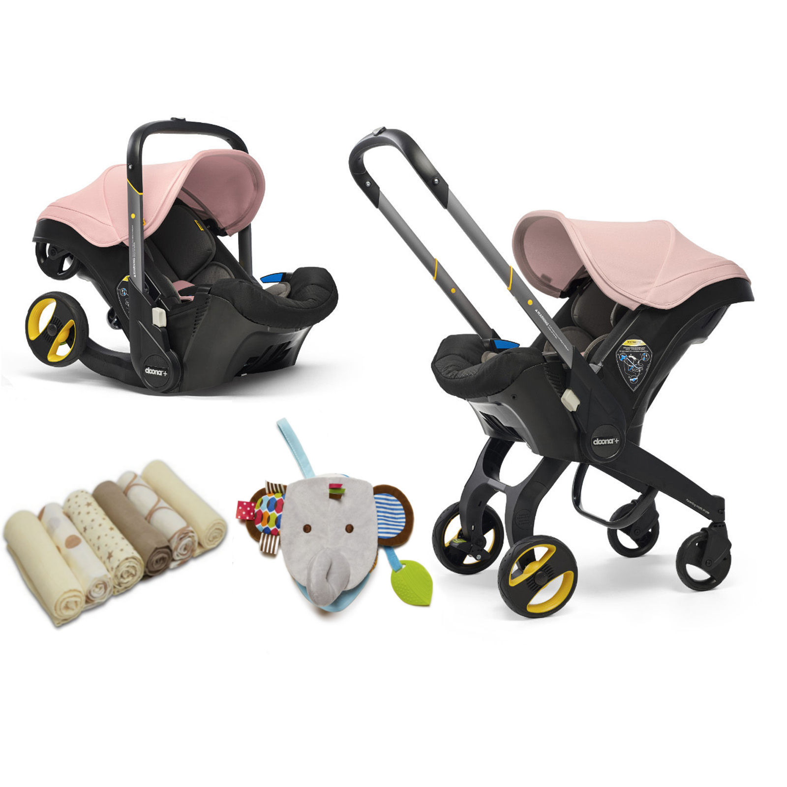 Doona Infant Car Seat Stroller Accessories Blush Pink