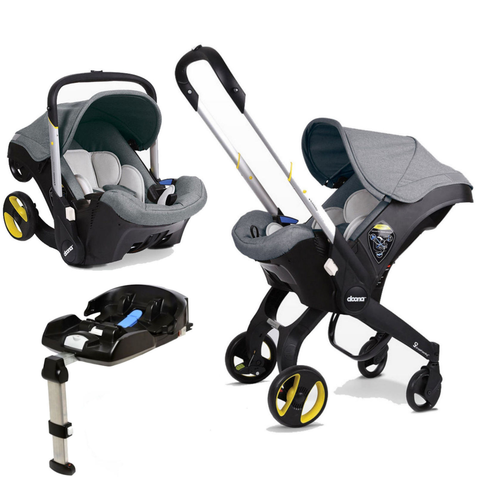 Doona Infant Car Seat Stroller With Isofix Base Storm Buy At