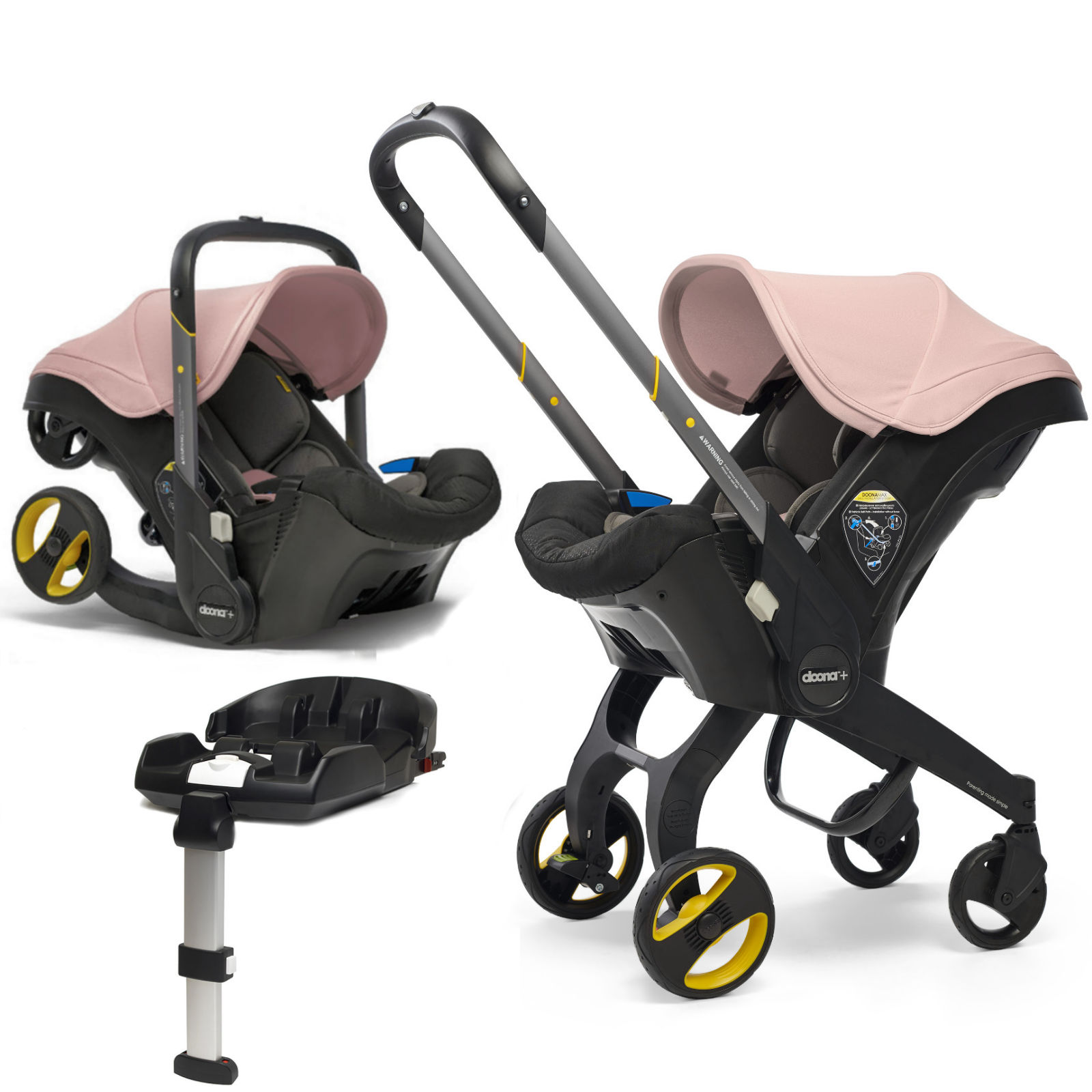 Doona Infant Car Seat Stroller With Isofix Base Blush Pink Buy