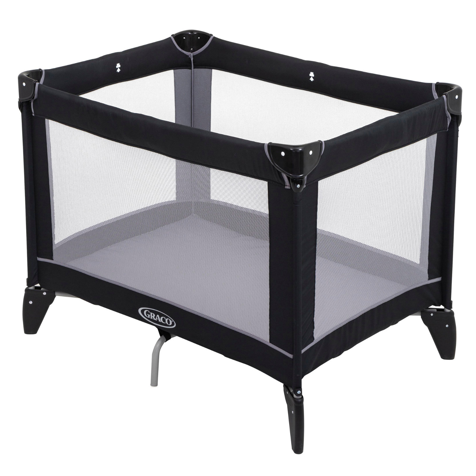 Graco Compact Travel Cot Black Grey Buy At Online4baby