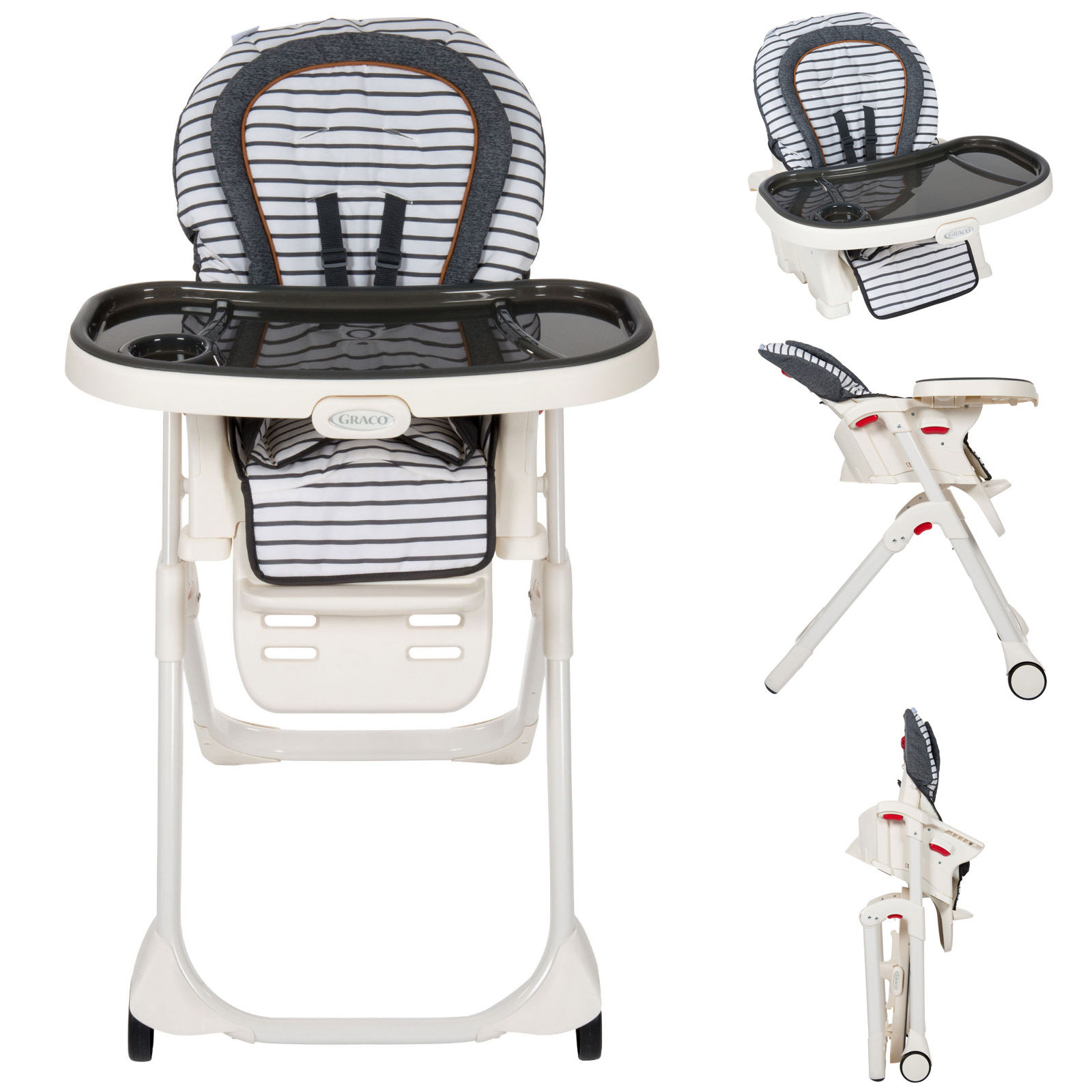 Astonishing Graco Table2Boost 2In1 Highchair Booster Breton Stripe Alphanode Cool Chair Designs And Ideas Alphanodeonline