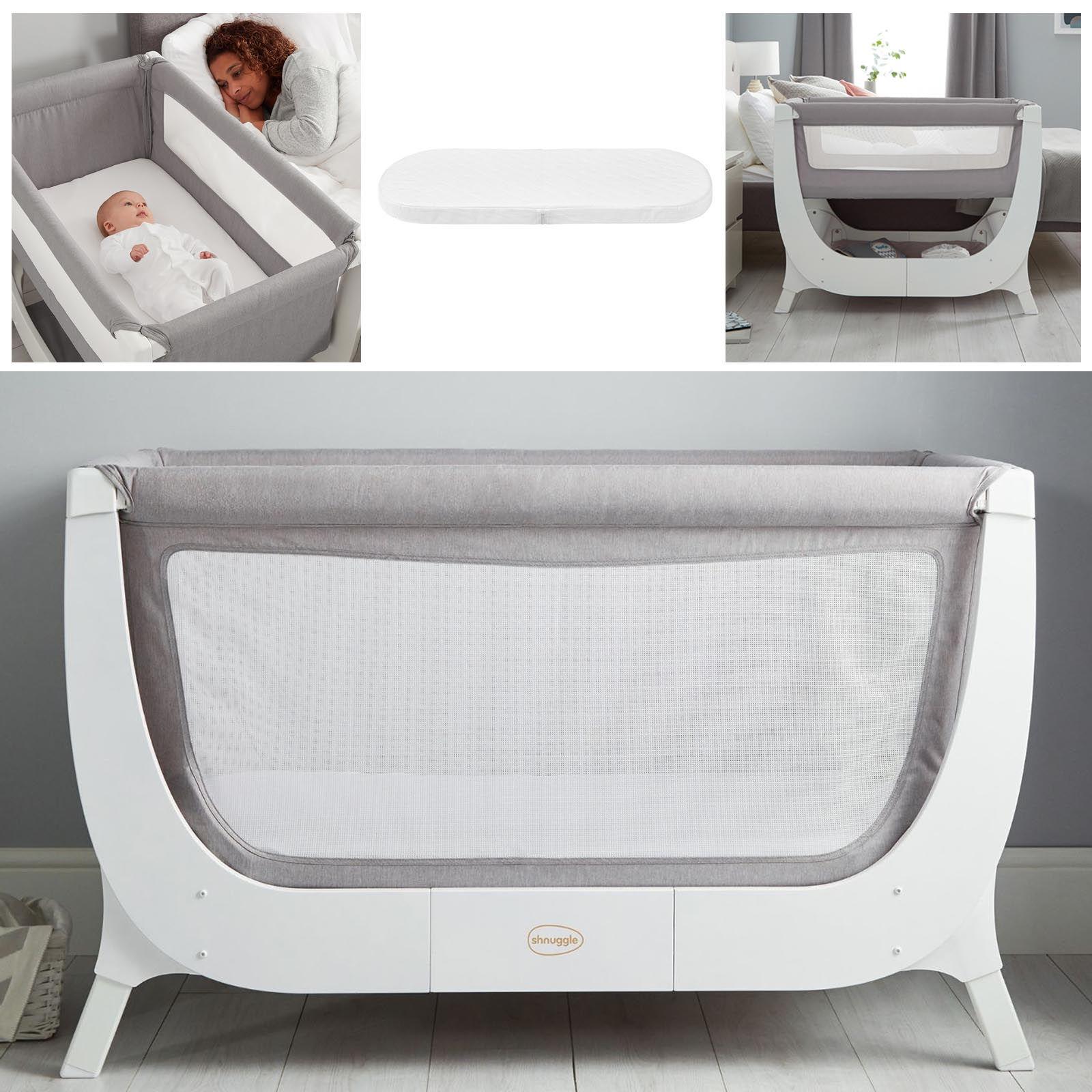 Shnuggle Air 2in1 Bedside Crib / Cot With Air Cot Mattress ...