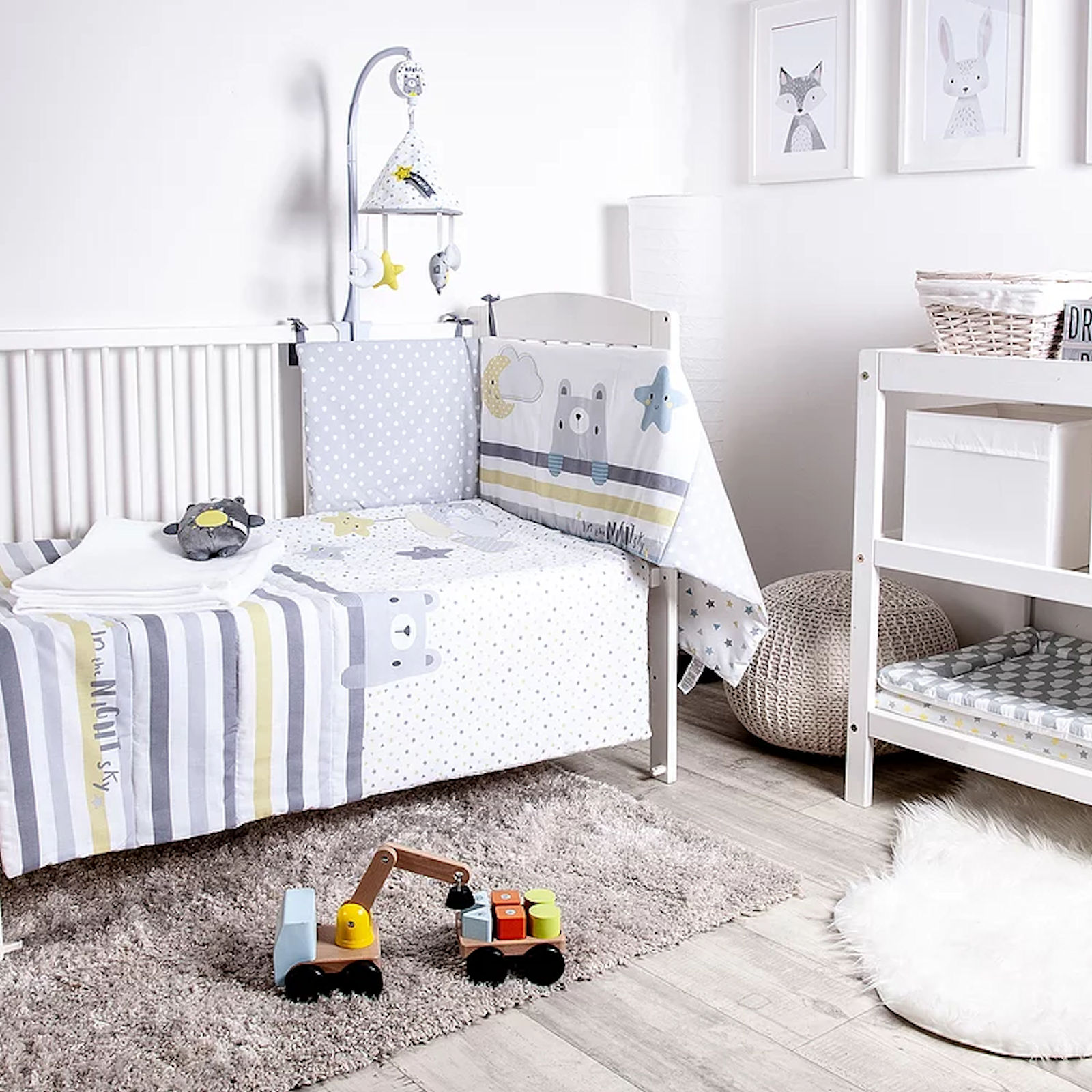 Twin Pack Bizzi Growin Fitted Cot Bed Sheets