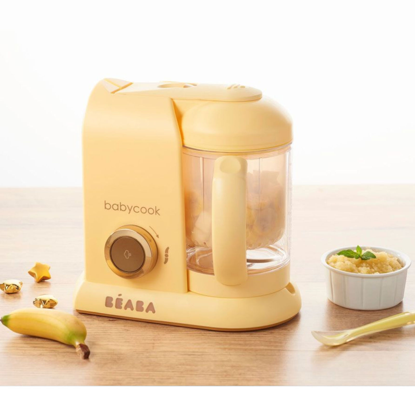 Beaba Babycook Solo 4-in-1 Limited Edition Baby Food Maker & Food Processor - Vanilla Yellow