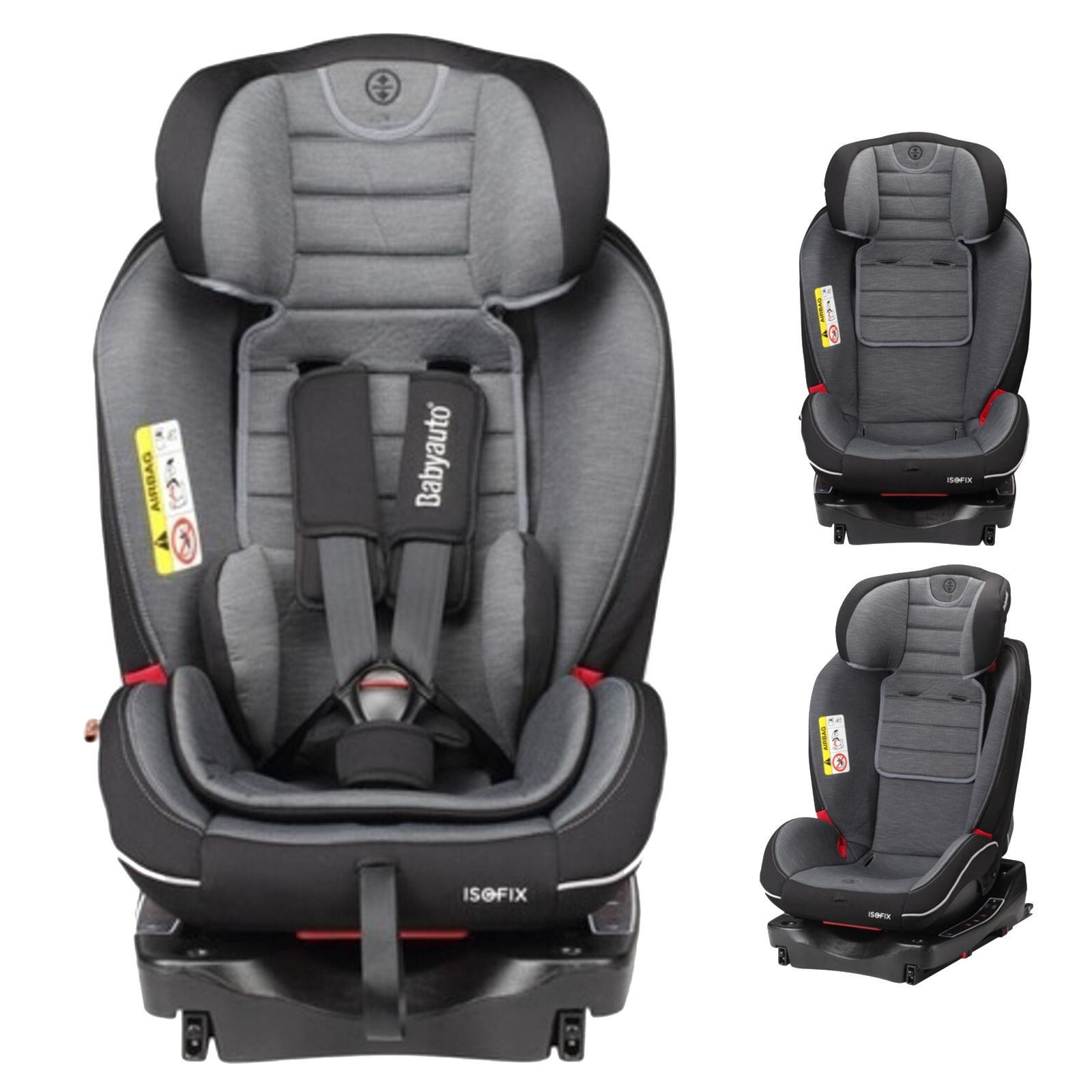 Babyauto Every Stage InfinityFix Group 0+123 ISOFIX Car Seat - Black / Grey