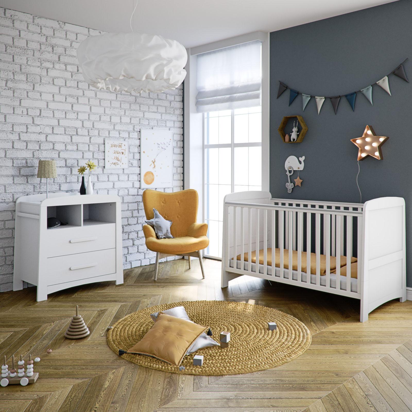 Mothercare Little Acorns Somerton Cot Bed 3 Piece Nursery