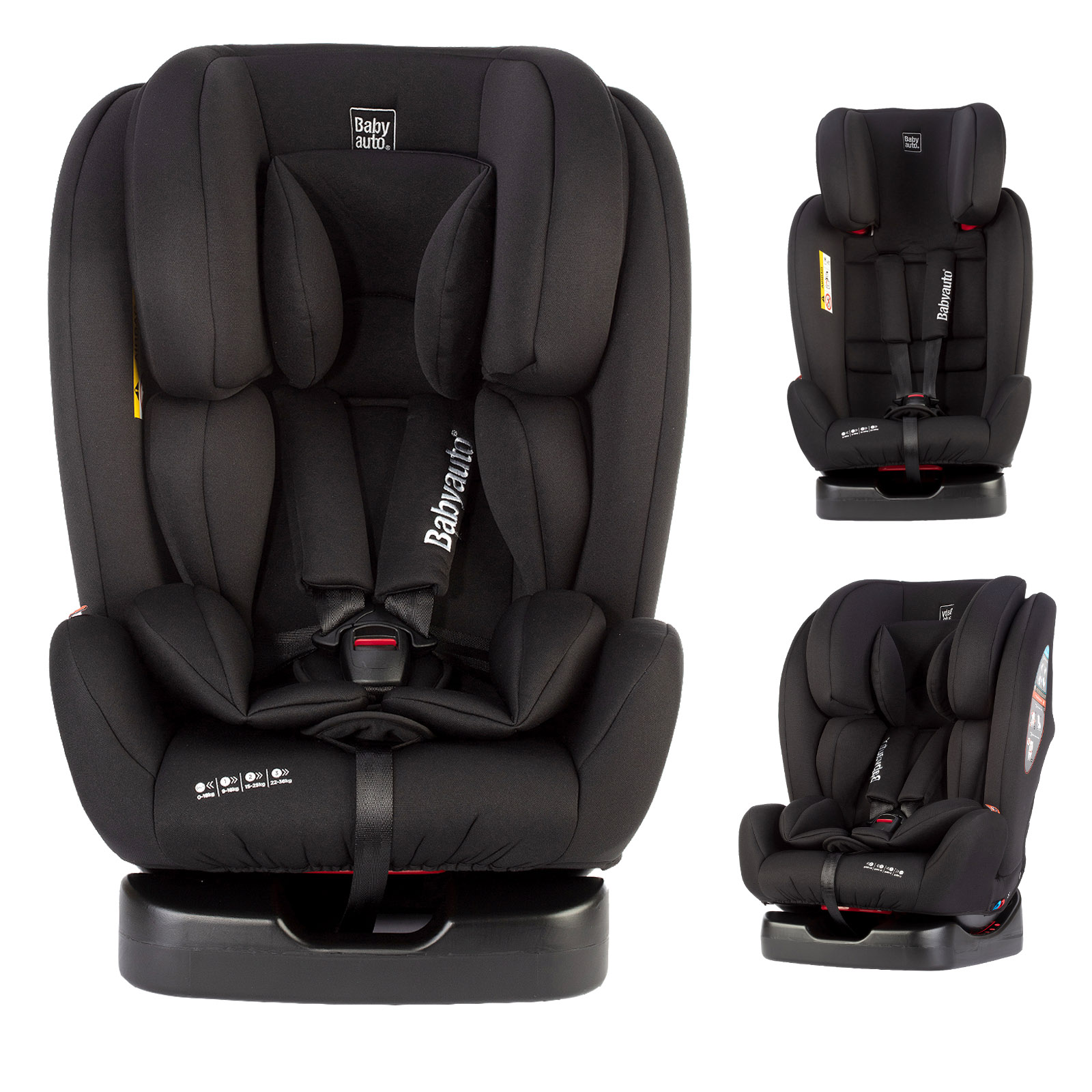 Babyauto Dupla Every Stage Beltfit Group 0+1/2/3 Car Seat - Black