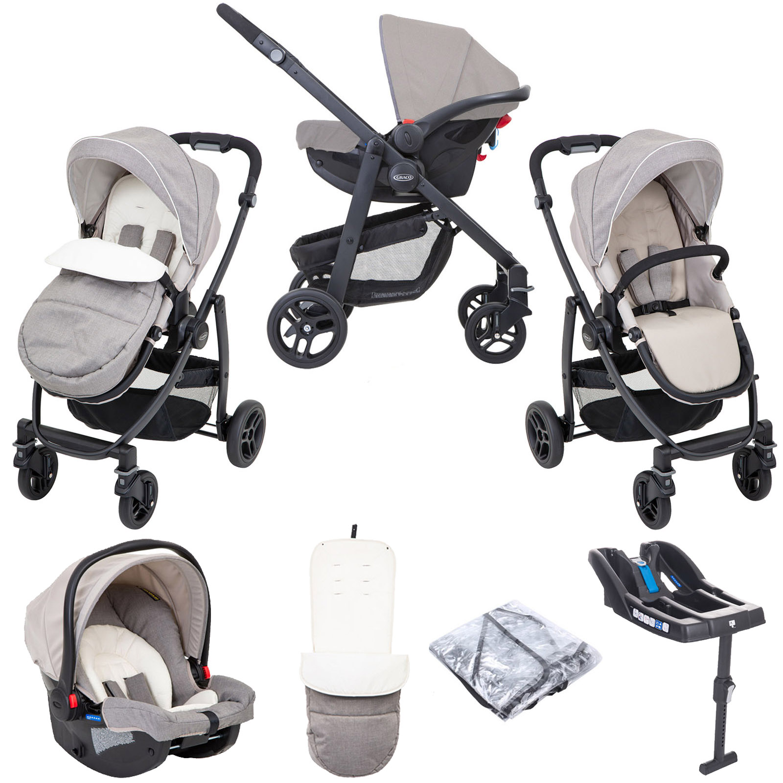 Graco Evo (SnugRide Car Seat) Travel System & Belted ...