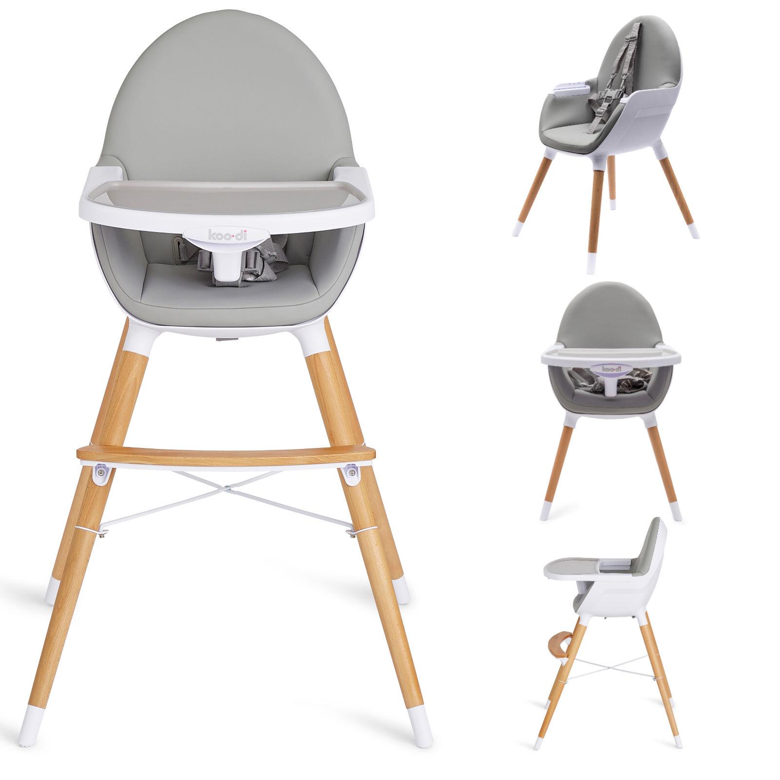 Koo-Di Duo 2in1 Wooden Highchair - Grey