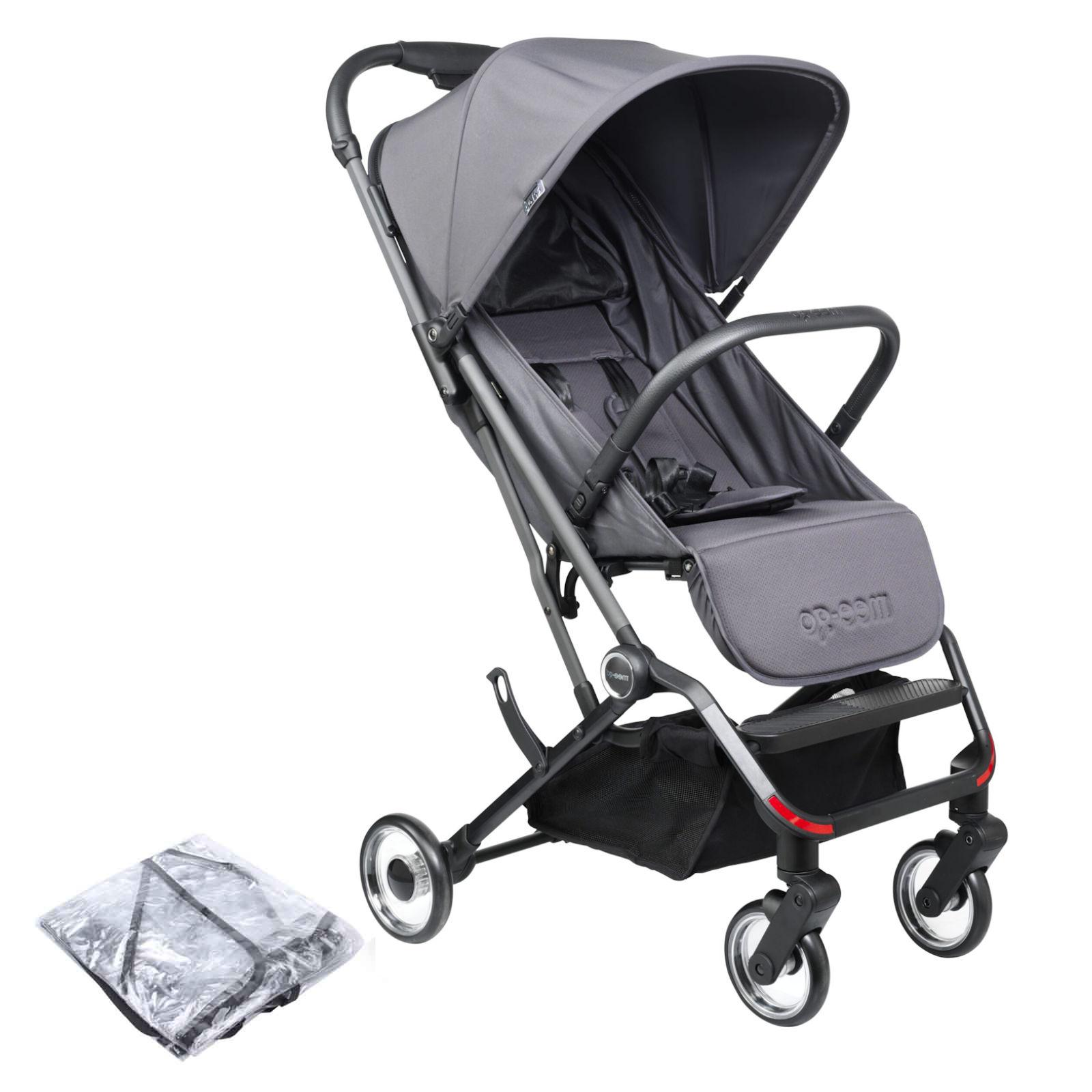 Mee-Go Trio Plus Pushchair Stroller - Slate Grey