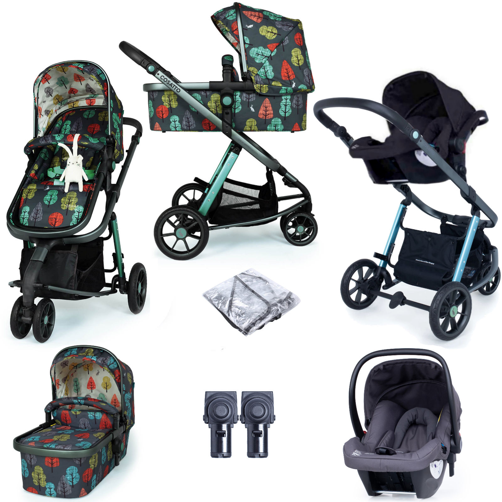 Cosatto Giggle 3 (Hold Car Seat) Travel System - Harewood