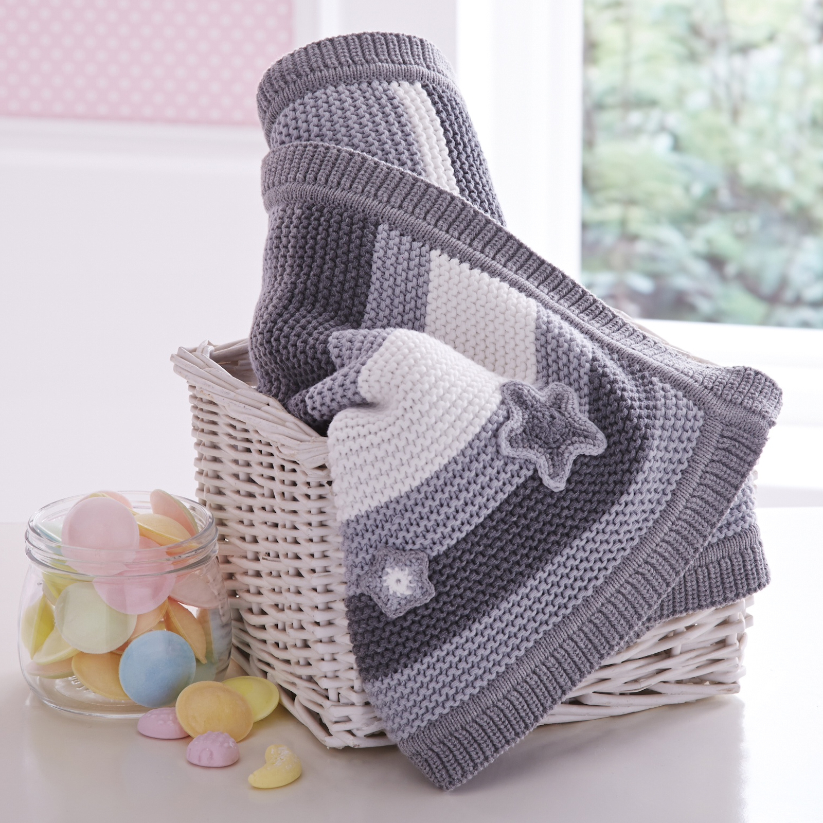 Clair De Lune Pick N Mix Knitted Pram Moses Basket