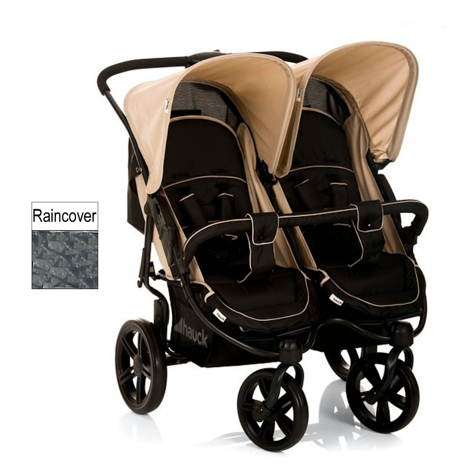 hauck roadster duo slx twin double pushchair almond caviar buy at online4baby. Black Bedroom Furniture Sets. Home Design Ideas