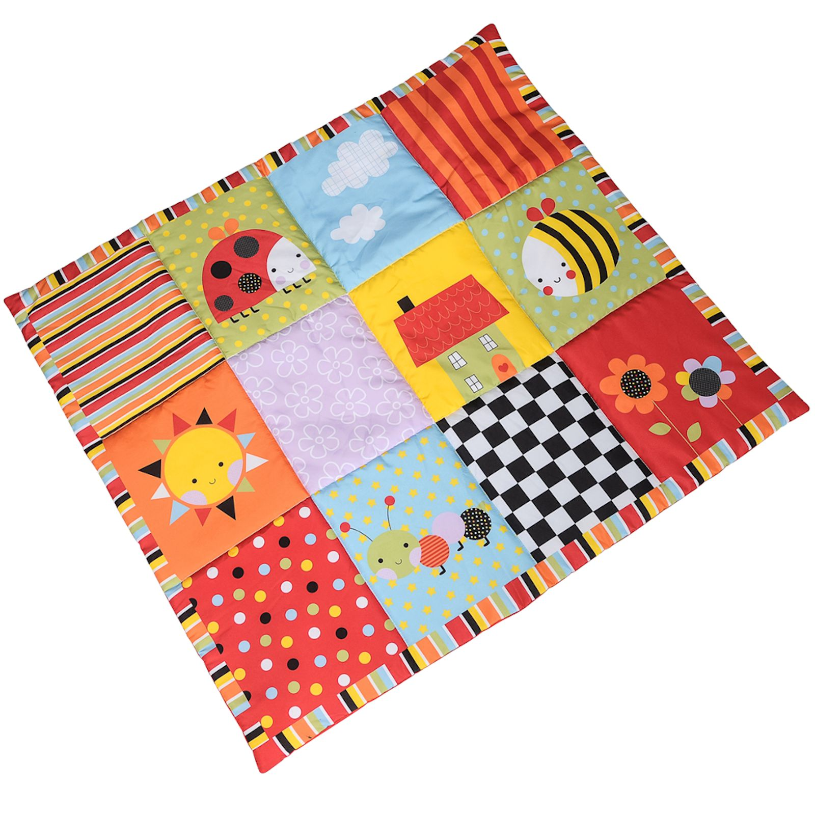 Red Kite Padded Play Mat Garden Gang