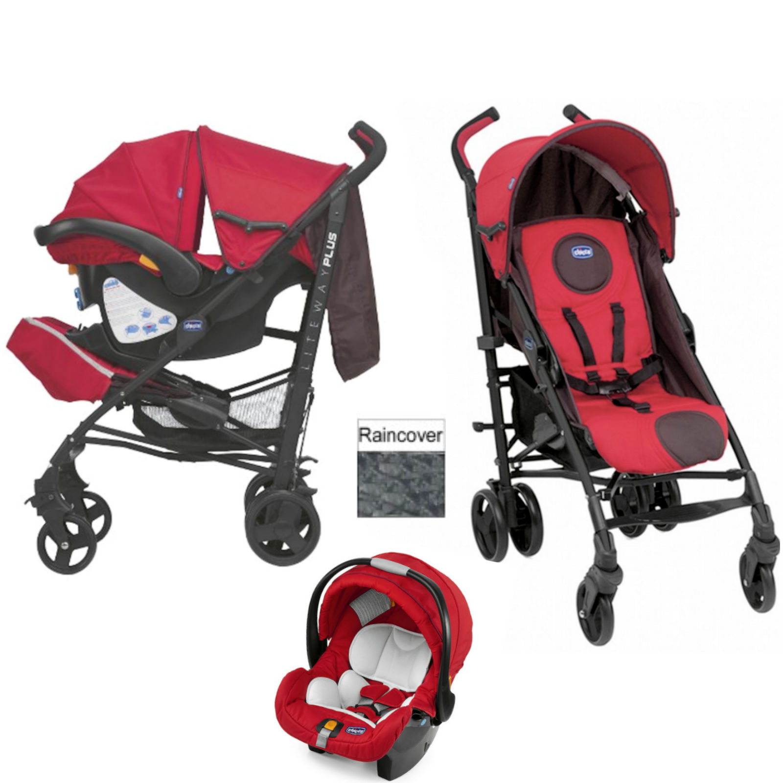 Chicco LiteWay Plus Travel System Fire
