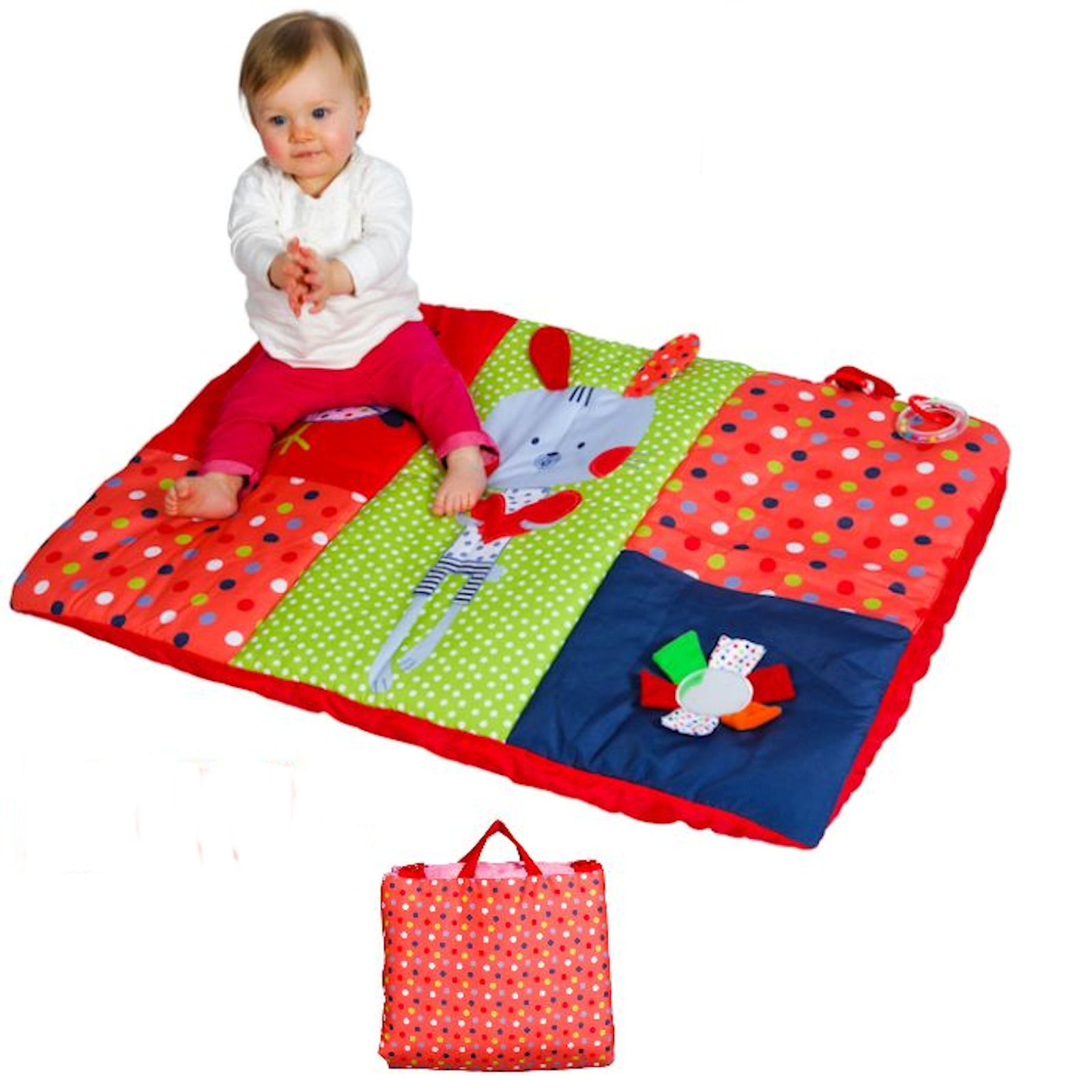 Red Kite Deluxe Baby Activity Play Mat Cotton Tail