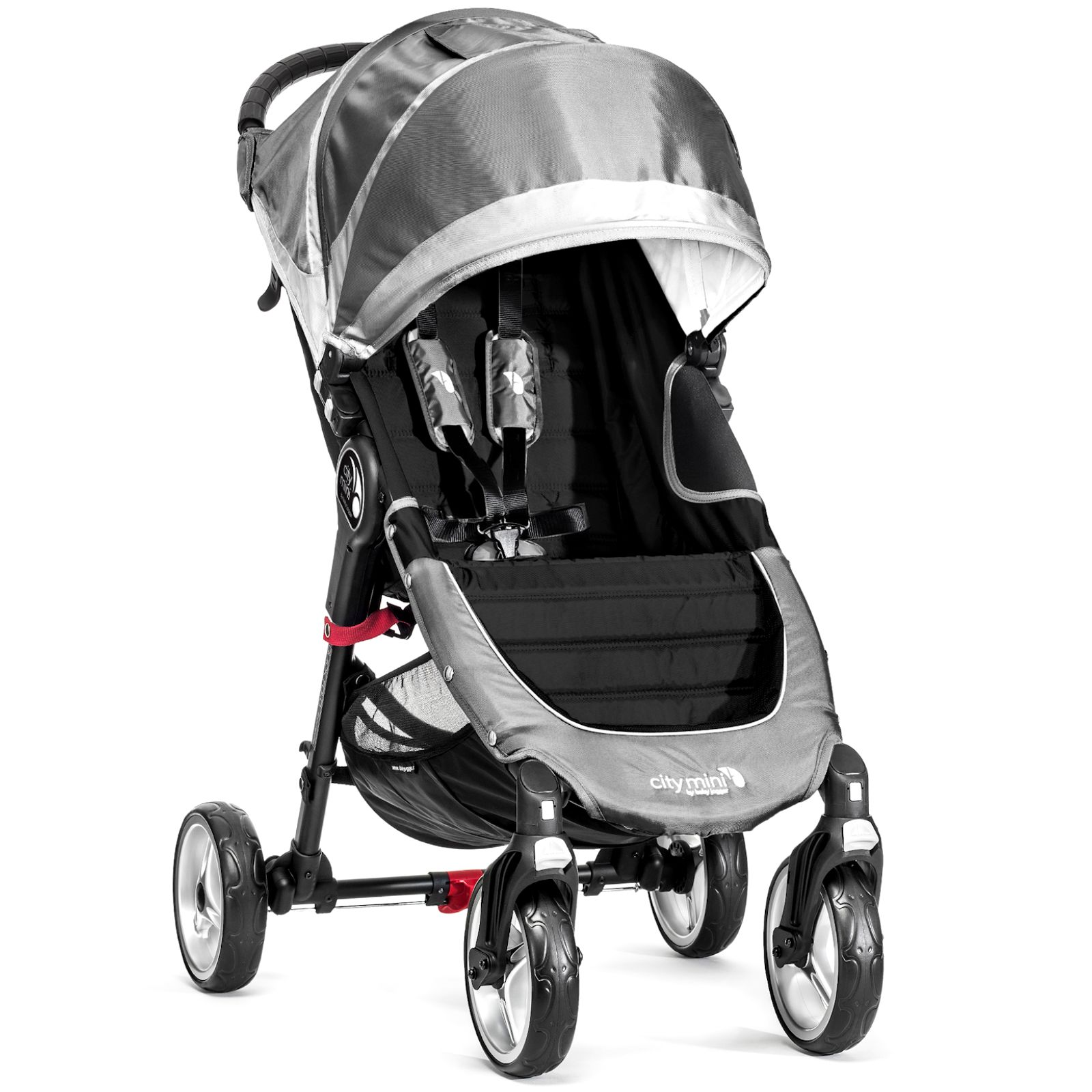 New Baby Jogger City Mini 4 Wheel Single Stroller Steel Grey