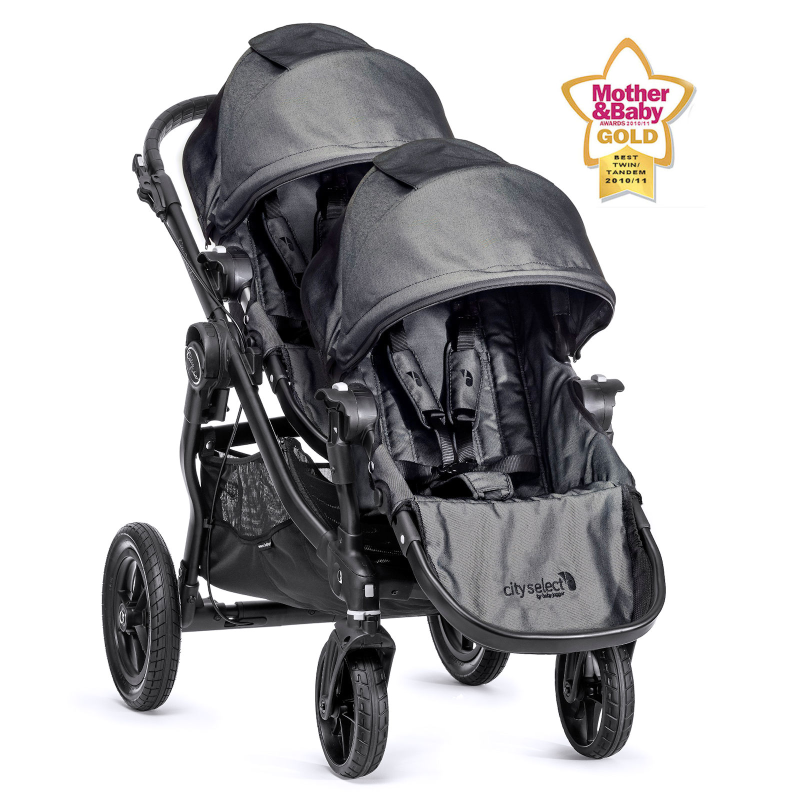 e0c2303419ca New Baby Jogger City Select Tandem Stroller - Charcoal Denim