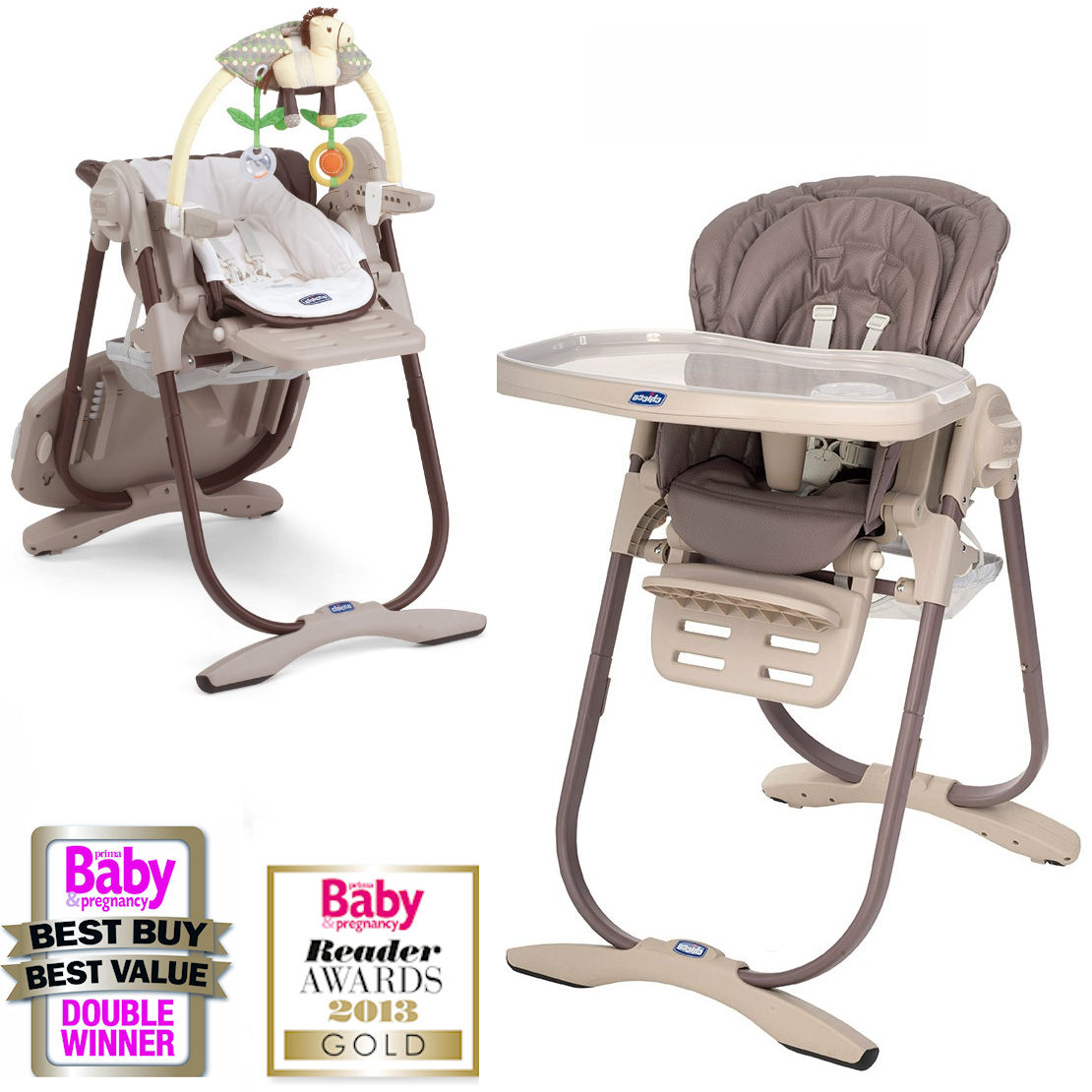 Chicco Polly Magic Highchair   Cocoa.
