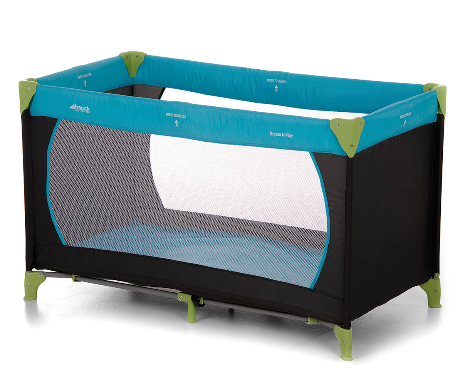 Hauck Deluxe Dream n Play Travel Cot Playpen Water Blue