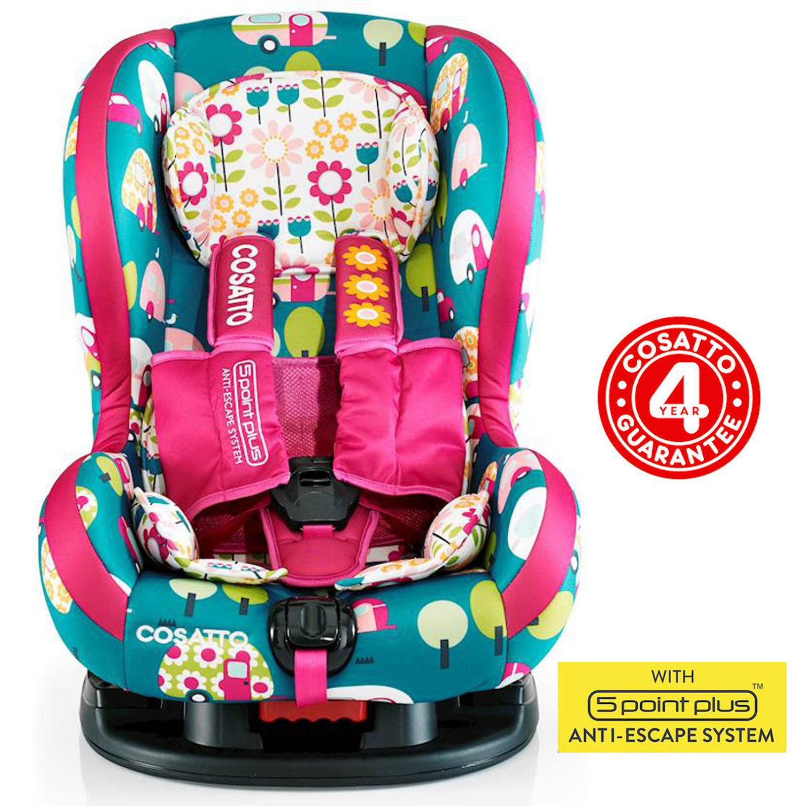 Cosatto Moova 2 Group 1 Car Seat - Happy Campers | Buy at Online4baby