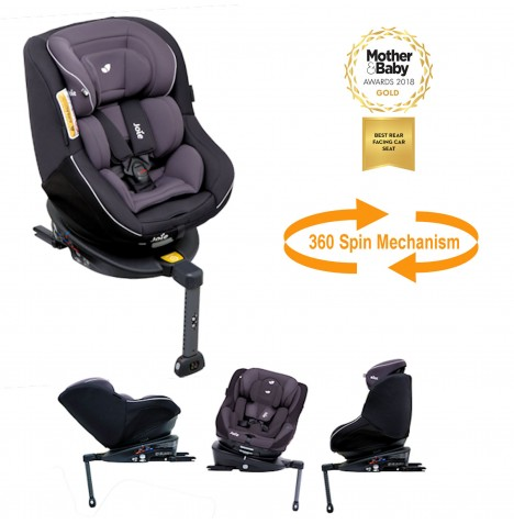 Joie Spin 360 Group 0+/1 Isofix Car Seat - Two Tone Black..