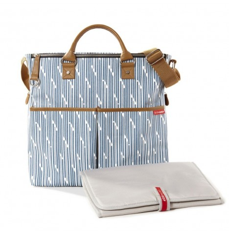 Skip Hop Duo Signature Special Edition Changing Bag - Blueprint Stripe