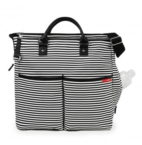 Skip Hop Duo Signature Special Edition Changing Bag - Black & White Stripes