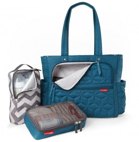 Skip Hop Forma Pack & Go Tote Changing Bag - Peacock