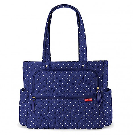 Skip Hop Forma Pack & Go Tote Changing Bag - Navy Dot