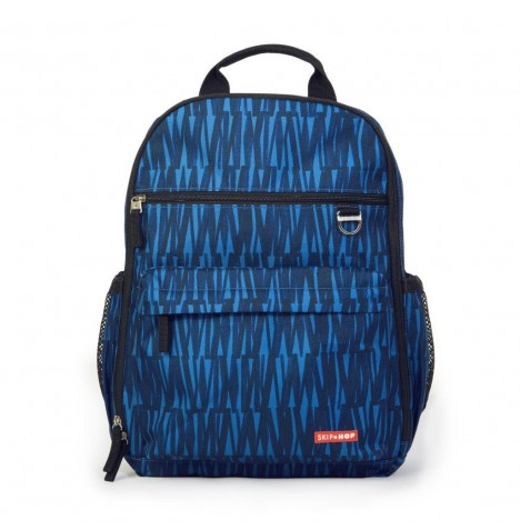 Skip Hop Duo Diaper Backpack / Changing Bag - Blue Graffiti