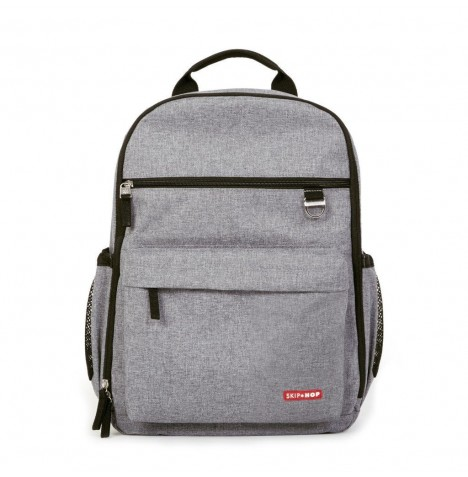 Skip Hop Duo Diaper Backpack / Changing Bag - Heather Grey
