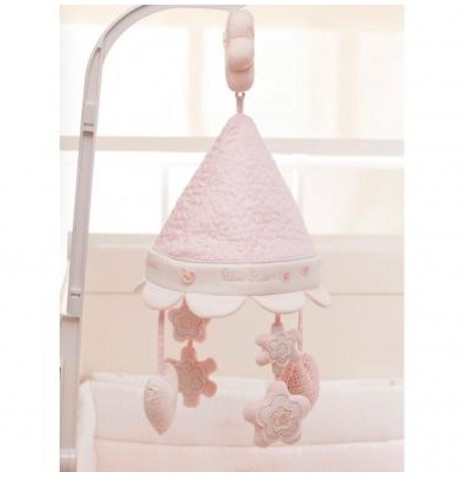 Silver Cross Handmade With Love Luxury Musical Cot Mobile - Vintage Pink