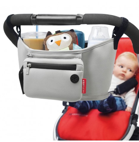 Skip Hop Grab & Go Stroller Organiser - Heather Grey