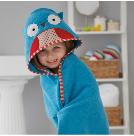 Skip Hop Hooded Towel & Wash Mitt Set - Owl