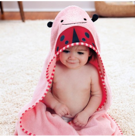 Skip Hop Hooded Towel & Wash Mitt Set - Lady Bug