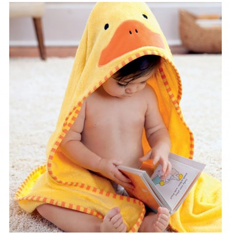 Skip Hop Hooded Towel & Wash Mitt Set - Duck