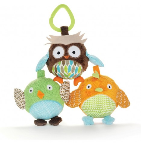 Skip Hop Owl & Friends Ball Trio - Treetop Friends
