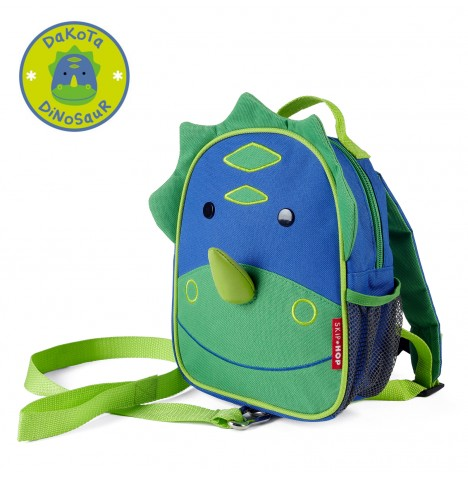 Skip Hop Zoo Let Children's Back Pack With Reins - Dinosaur