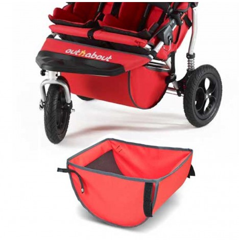 Out n About Nipper Double Basket - Red