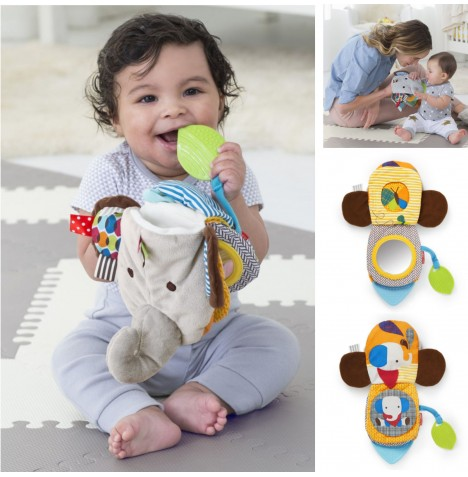 Skip Hop Bandana Buddies 3 in 1 Baby Activity Toy / Puppet Book - Elephant