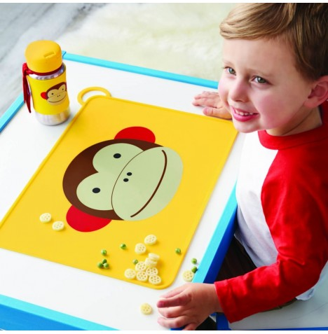Skip Hop Fold & Go Packable Silicone Placemat - Monkey