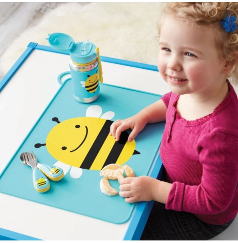 Skip Hop Fold & Go Packable Silicone Placemat - Bee