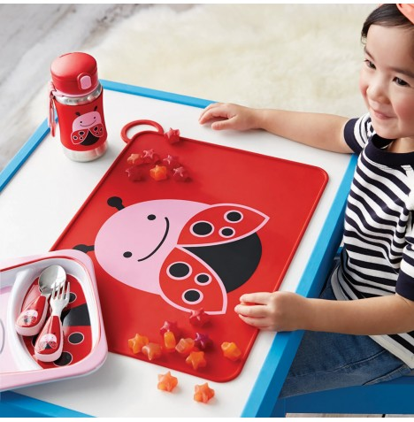 Skip Hop Fold & Go Packable Silicone Placemat - Lady Bug