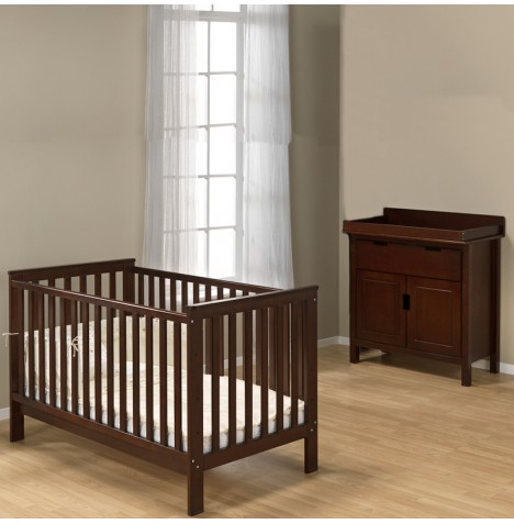 My Child 2 Piece Solid Wood Sarah Nursery Furniture Room Set - Mahogany