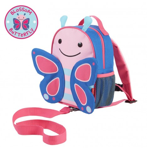 Skip Hop Zoo Let Children's Back Pack With Reins - Butterfly