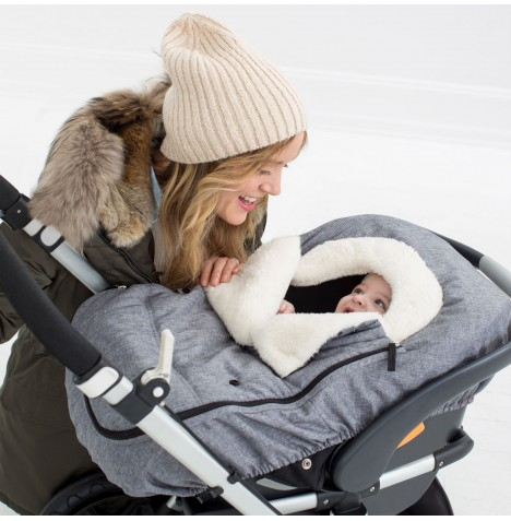 Skip Hop On The Go Car Seat Cover / Footmuff - Heather Grey