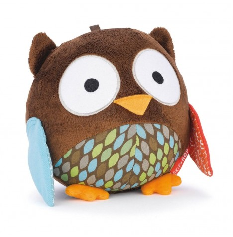 Skip Hop Chime Ball Owl Toy - Treetop Friends